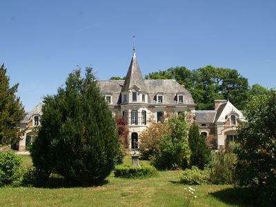Photo for Magnificent castle at a unique location in Pressac, with a shared swimming pool