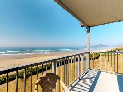 Photo for NEW LISTING! Oceanfront condo with seasonal shared pool - in Historic Nye Beach!
