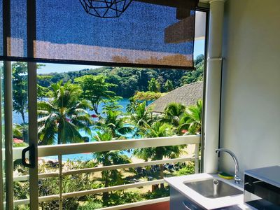 All the comfort, superb view, direct access to the beach, in a 4 * resort