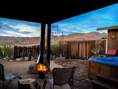 Photo for Joshua Tree El Coyote on 5 private acres set against the mountainside w/ Hot tub