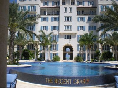Entrance to Regent Grand with Signature Infinity Edge Pool