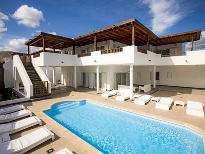 Photo for Villa Palmera: Large Heated Private Pool, Walk to Beach, Sea Views, A/C, WiFi, Car Not Required