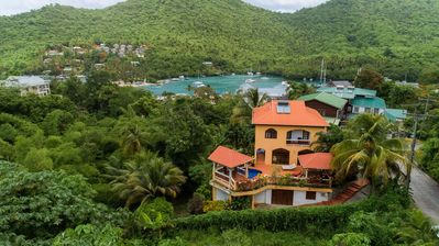 Nestled in the mountains, steps from the sea! Villa Papillon, St. Lucia