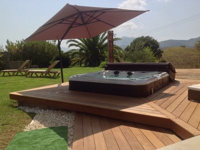 Photo for PROMO VILLA NEAR AJACCIO WITH SPA, NEAR BEACHES 5MIN, 14PERS / 2 BATHROOM