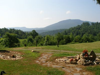View of Hanging Rock and Moores Knob from front porch