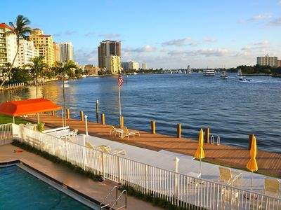 Photo for Stunning Waterfront Apartment One Block From Fort Lauderdale Beach