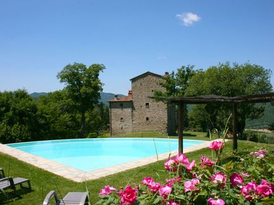 Photo for 7 bedroom Villa, sleeps 16 in Porcile with Pool and WiFi