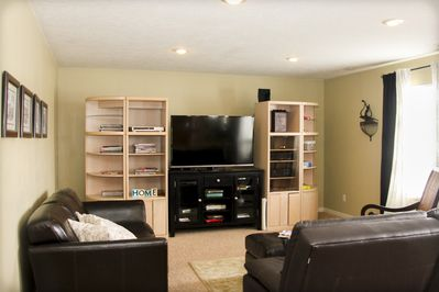 Enjoy the living room and 60' TV