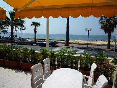 Photo for Apartment, beachfront, 2 bedrooms, 2 bathrooms, A/C, free WiFi,TV,parking
