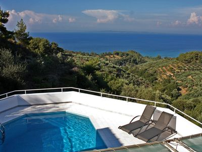Photo for Villa with stunning sea view and private pool - 4 bedrooms