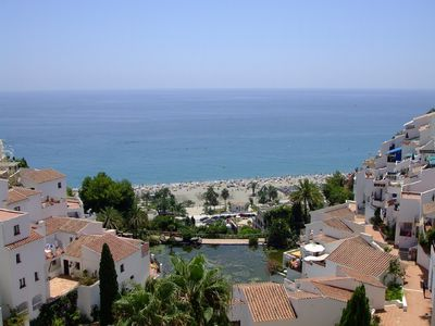 Photo for One-bed top floor boutique apartment. Stunning views out over the Mediterranean.