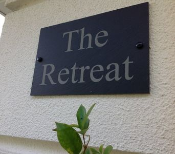 A sign of luxury, 'The Retreat' sign