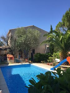 Photo for House of 100m2 with a REAL PRIVATE SWIMMING POOL (beach at 5min, golfs 2min)