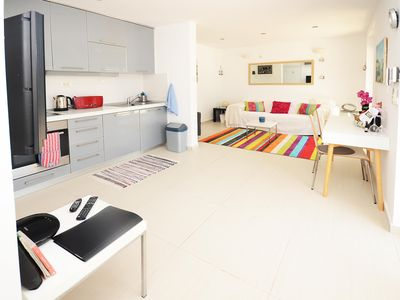 Photo for Front line to the sea, with own pool, Contemporary Large Apt  - free wifi