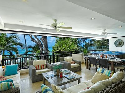 Photo for Coral Cove 6, The Ivy, Beachfront 3 Bed Apartment With Stunning Sea View