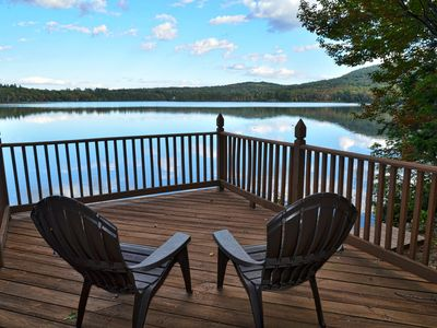 Photo for Waterfront House on Big Pea Pond w/ Lakeside Deck, Kayaks and Canoe