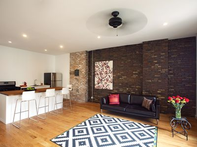 Photo for Luxury Artist Loft, 2 private bedrms. Elegant/Classy/Clean. 5 mins to Manhattan