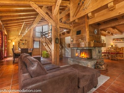 Photo for Luxury Farmhouse Conversion in Samoens. 6 bedrooms, close to lift/pistes, fire