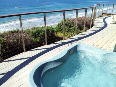 Photo for Oceanfront Home, Stone Steps Beach Access, Jacuzzi on Oceanfront Deck