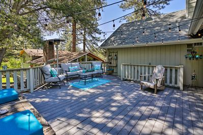 This property features plenty of outdoor space to entertain guests from!