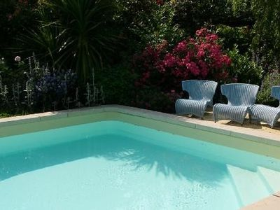Photo for Near Bordeaux, converted stone barrel cellar and pool