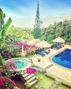 Photo for Seaview Villas in Tropical Garden with Staff and Car! Group bookings possible!