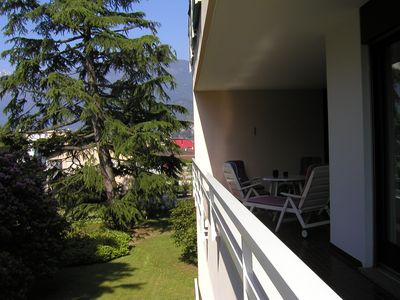 Photo for Family-friendly apartment on Lake Maggiore with a balcony and indoor swimming pool