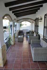 Terrace area with seating