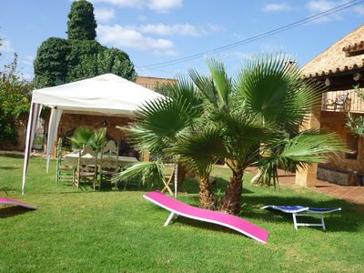 "Photo for ""Poniente"" duplex character in an old farm, swimming pool, 3 km from the beautiful beach of Es Trenc."