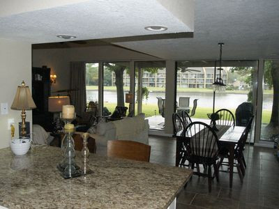 Photo for Beautiful and spacious luxury townhome overlooking Lake Conroe.   2 master suite