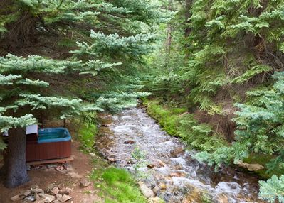 Relax in Hot Tub by the Stream
