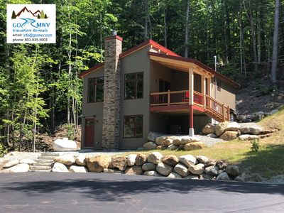 Photo for Exceptional 3-Bedroom Timber Home with Deck and Views to Attitash. Dog friendly!