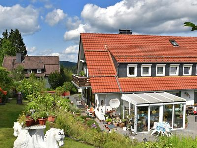 Photo for Flat for 10 people with a large conservatory at the edge of the forest in the Harz region