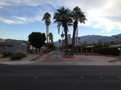 Gated resort complex in Warm Sands neighborhood of Palm Springs, CA