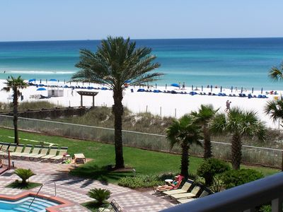 perfect view  3rd fl balcony so close to beach Had 2 zoom out 4 other picture