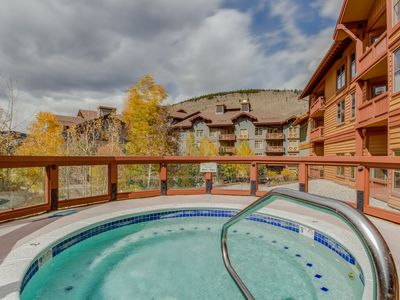 Photo for Ski-in/ski,-out modern condo w/ shared hot tub & sauna - views of the Village