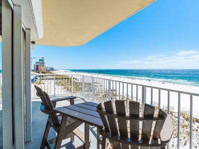 Photo for Beautiful 3 Bedroom Beachfront Condo with Stunning Views from Wraparound Balcony