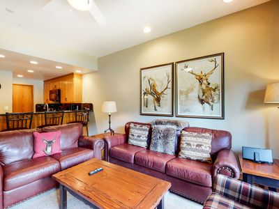 Photo for 2nd floor skier's paradise w/ wood-burning fireplace, shared pool, walk to lifts