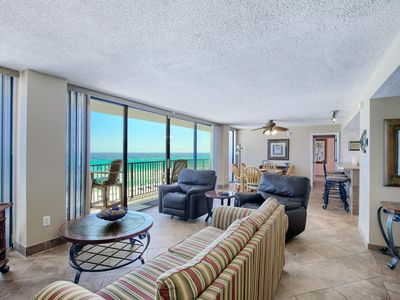 Photo for 4th Floor East! Dog Friendly! 60' Beach Views in Every Room! 2 BEACH CHAIRS!