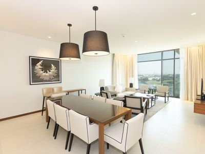 Photo for Stunning 2BR Apt with Infinity Pool overlooking Golf Club & Dubai Skyline