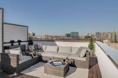 Rooftop Deck with Skyline Views - Take in uninterrupted views of the skyline from one of the nicest vacation rentals in the city.
