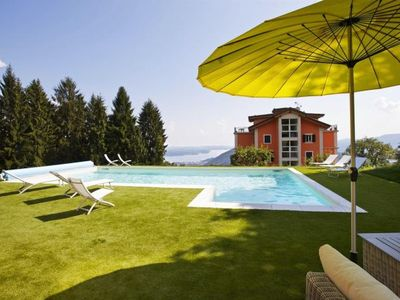 Photo for 2-bedroom corner apartment in a prestigious villa from 1850 with solar-heated pool