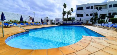 """Photo for Cosy Holiday Apartment """"Pure Costa Luz I"""" with Sea View, Wi-Fi, Balcony and Pool"""