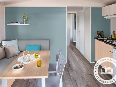 Photo for Camping La Mer Blanche *** - Maeva Camping - Mobil Home Grand Confort 3 Rooms 4/6 People