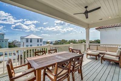 3rd Floor Balcony - Complete with Gulf Views