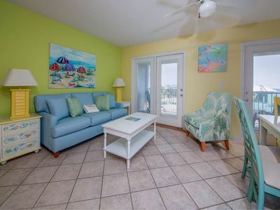 Photo for Airy, coastal condo, Steps to the gulf, Quick drive to entertainment