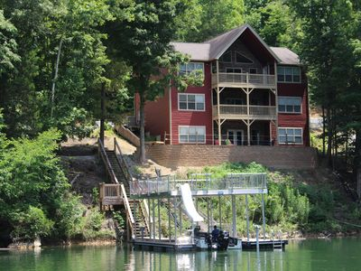 Photo for Huge Dual Kitchen w/ Large Open Dining/Family Rooms, Billiards, Hot Tub, Dock...