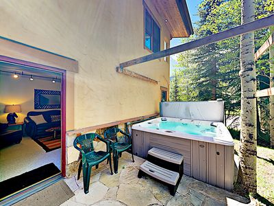 Hot Tub - Enjoy the added luxury of a private hot tub.