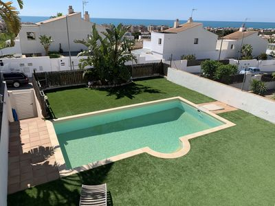 Photo for House of 400 m2 with private pool and garden. Incredible sea views.