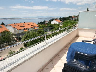 Photo for One bedroom apartment with balcony and sea view Dramalj, Crikvenica (A-5534-b)